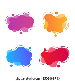 Set of abstract Modern graphic elements with dynamical colored forms. Template for the design of a logo.Vector Illustration EPS 10