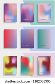 Set of abstract modern trendy background cover posters, banners, flyers or placards. Vector illustration.