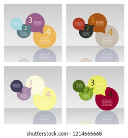Set of abstract paper infografics. Vector eps10 illustration