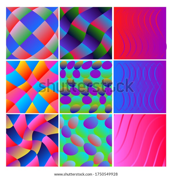 set abstract patterns for fashion or apparel products