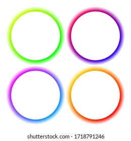 Set Abstract Round Gradient Color Frame Vector