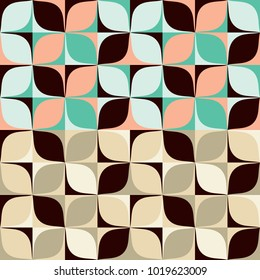 Set abstract seamless pattern colorful shades