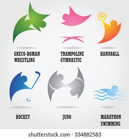 Set of abstract sport logos.