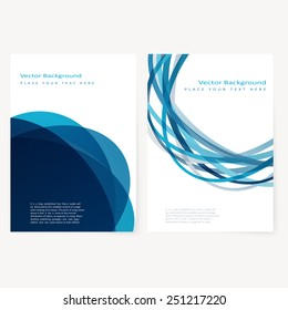 Set of abstract template flyer with color circles. Design element