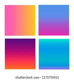 Set of abstract vector backgrounds blue, pink, purple and orange. Illustration