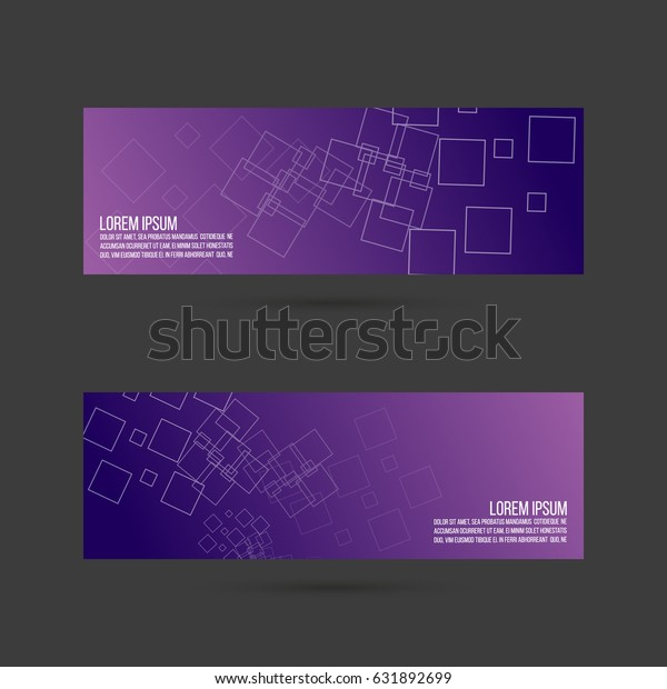 Set Abstract Vector Banners Header Layout Stock Vector