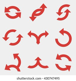 Set of abstract vector icons - activity arrows.Arrow icon sign set.