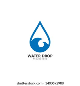 Set of abstract water drops symbols, logo template