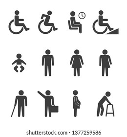 set of accessibility icons vector image