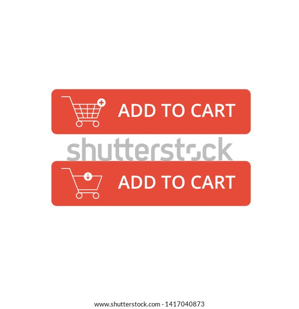 set add cart icon design vector stock vector royalty free 1417040873 https www shutterstock com image vector set add cart icon design vector 1417040873