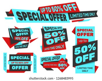 Set of advertising labels – SPECIAL OFFER 50% off – Limited time only