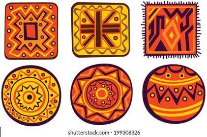 Set of African color ornaments