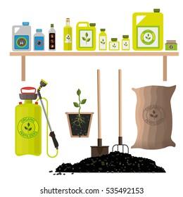 一套农业和园林用品施肥