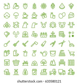 Set of agriculture and gardening icons. Vector illustration