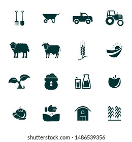 Set of Agriculture Icon Logo Vector Template. Agricultural Equipment Concept Illustration