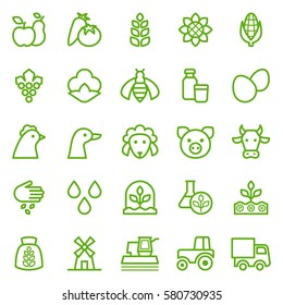Set of agriculture icons. Vector illustration