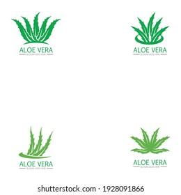 set Aloe vera logo and symbol vector