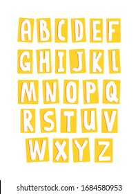Set alphabet for children education