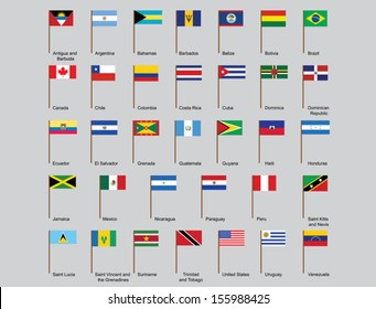 Flag round icons buttons rating country stock vector royalty free set of american countries flags vector illustration freerunsca Image collections
