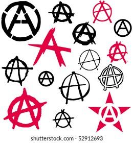 Set of Anarchy symbol icon vector illustration