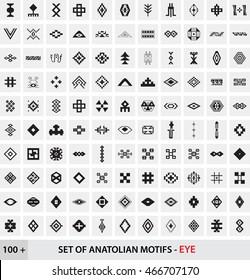 Set of Anatolian Turkish Motifs - Eye