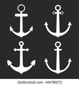 Set of anchors. Vector illustration