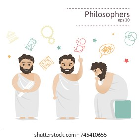 Set of ancient Greek philosophers