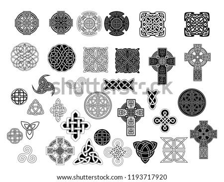 Set Ancient Pagan Scandinavian Sacred Symbols Stock Vector Royalty