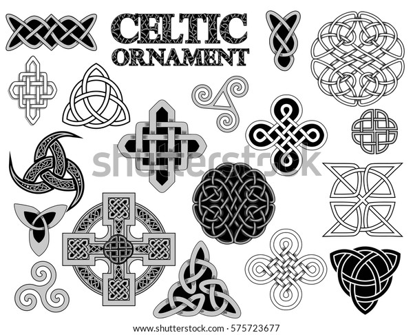 Set Ancient Pagan Scandinavian Sacred Symbols Stock Vector (Royalty