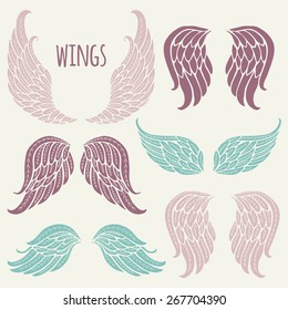 Set of angel wings.
