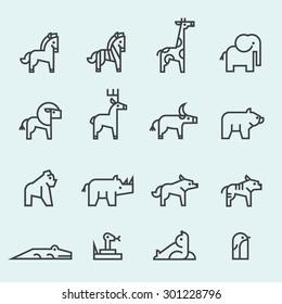 Set of Animal icon.
