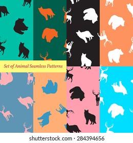 Set of Animal Seamless Patterns.