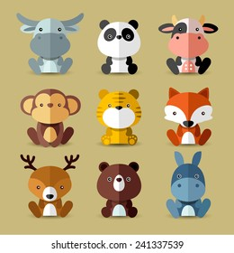 Set of animal vectors