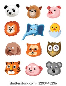 Set of animals illustration  on White background