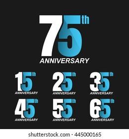 Set of Anniversary Celebration sign. Vector