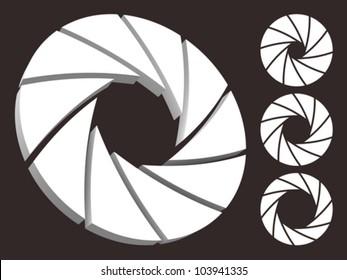 Set of aperture logo.