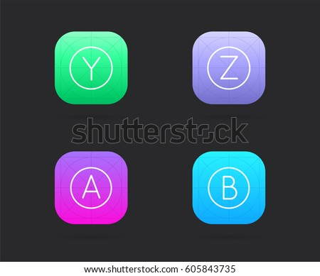 set app icon template guidelines vector stock vector royalty free