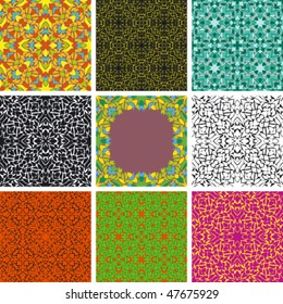 set of arabesque seamless pattern, abstract background