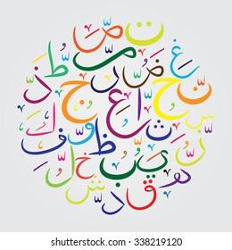 Set of Arabic letters