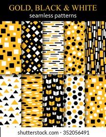 Set of Arabic seamless geometric pattern. Vector illustration