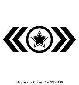 Set of Army Logo. Military Insignia Symbol, Badge, Label. Vintage Distressed Military Stars.