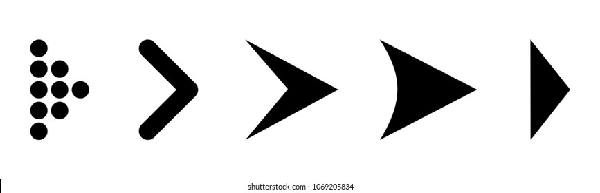 Set arrow icon. Different black arrows sign. Elements for business infographic – vector