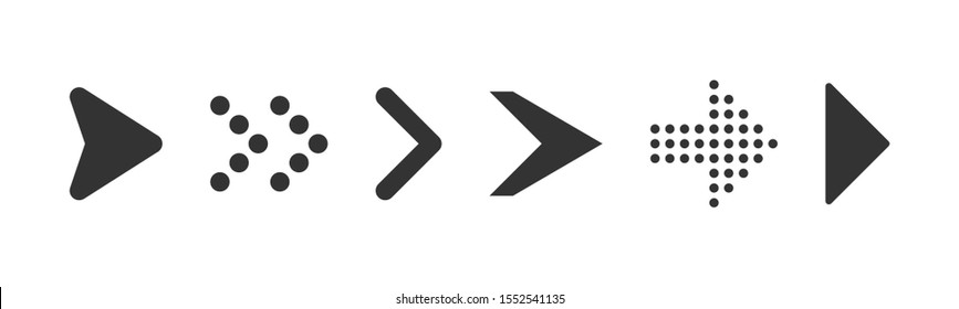 Set arrow icons for business, banking, contact, social media, technology, logistic, education, sport, medicine, travel, weather, construction. Arrows Black vector on white background.