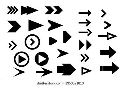 Set arrow icons. Arrow icon. Arrow vector collection.