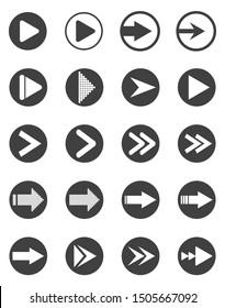 Set of arrow icons. Vector.