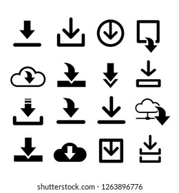 Set arrows download symbol files, images - share template for web design sites, apps, computer programs, games. Collection black flat icons.