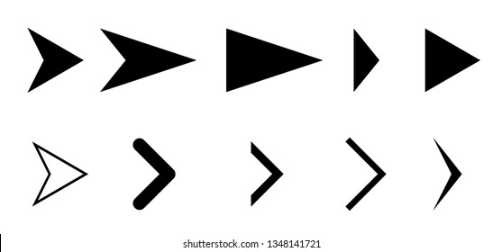 A set of arrows and elements for business and website development