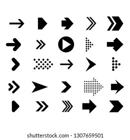 set arrows mark flat style symbol