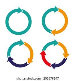 set arrows rotation circle