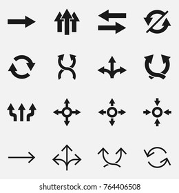 Set of arrows vector icons.